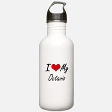 I Love My Octavio Sports Water Bottle