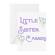 Little Sister Cassidy Greeting Cards (Pk of 10)