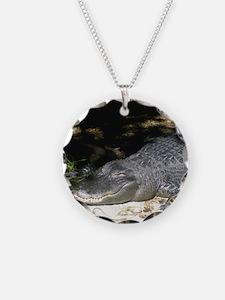 Alligator Sunbathing Necklace