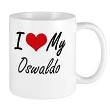 I Love My Oswaldo Mugs