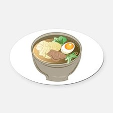 Ramen Bowl Oval Car Magnet