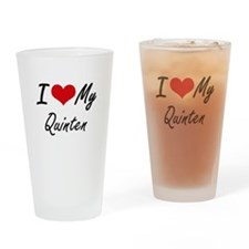 I Love My Quinten Drinking Glass