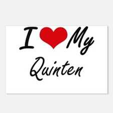 I Love My Quinten Postcards (Package of 8)