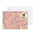 Ants and Picnic Art Greeting Card