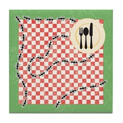 Ants and Picnic Art Tile Drink Coaster