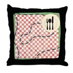 Ants and Picnic Art Throw Pillow