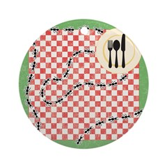 Ants and Picnic Art Ornament (Round)