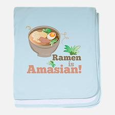 Ramen Is Amasian baby blanket