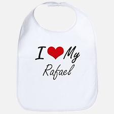 I Love My Rafael Bib