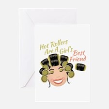Hot Rollers Greeting Cards