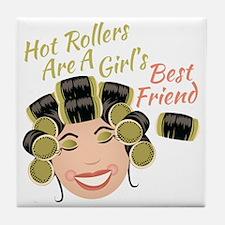 Hot Rollers Tile Coaster