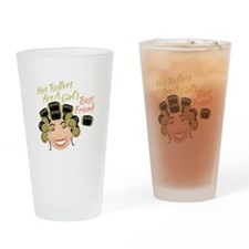 Hot Rollers Drinking Glass