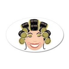 Woman In Curlers Wall Decal