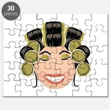 Woman In Curlers Puzzle