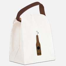 Beer Bottle Guitar Canvas Lunch Bag