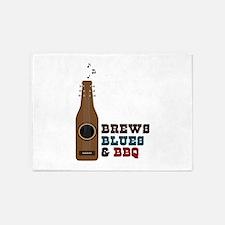 Brews Blues & BBQ 5'x7'Area Rug