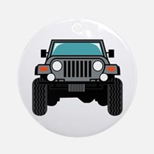 Jeep Front Round Ornament