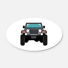 Jeep Front Oval Car Magnet