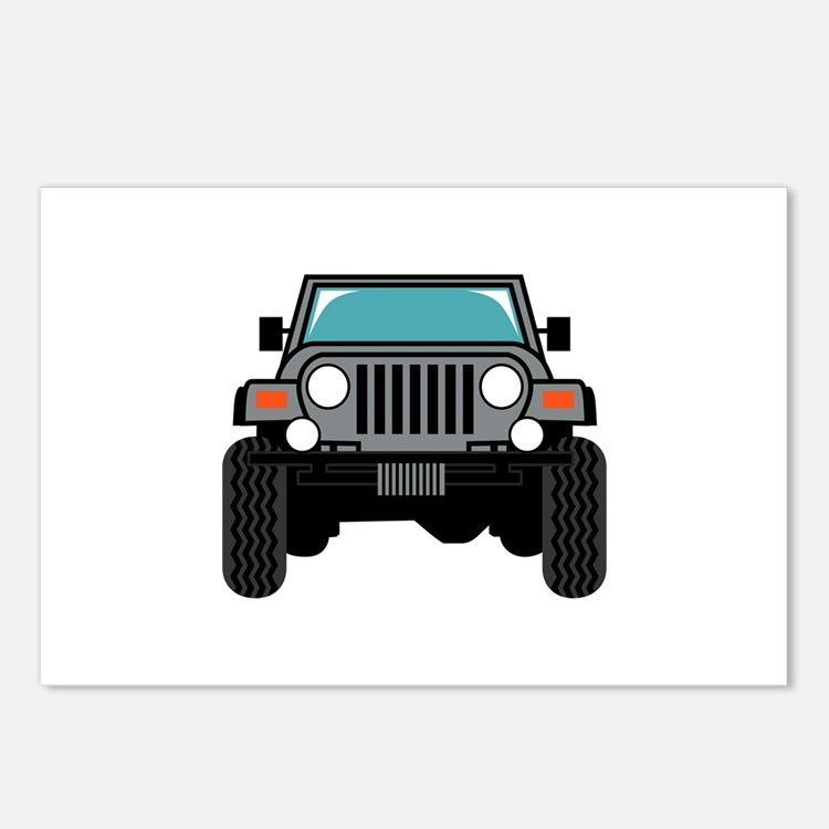 Jeep Front Postcards (Package of 8)