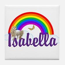 Unicorn Personalize Tile Coaster