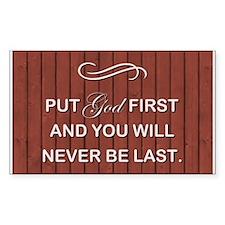 PUT GOD FIRST Decal