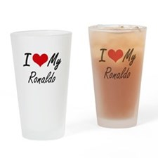 I Love My Ronaldo Drinking Glass