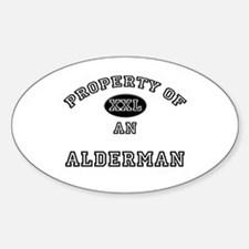 Property of an Alderman Oval Decal