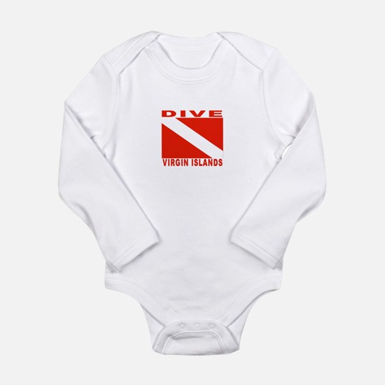 Cute British virgin islands Long Sleeve Infant Bodysuit