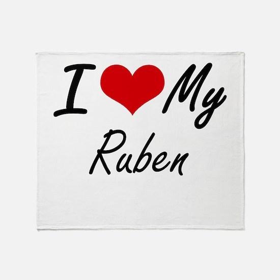 I Love My Ruben Throw Blanket