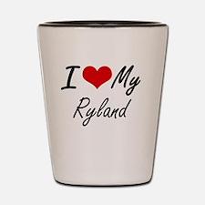 I Love My Ryland Shot Glass