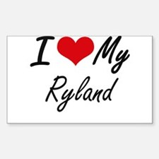 I Love My Ryland Decal