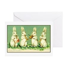 Vintage Musical Easter Bunnies Greeting Cards