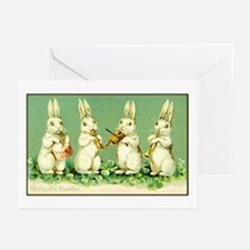 Vintage Musical Easter Bunnies Greeting Cards