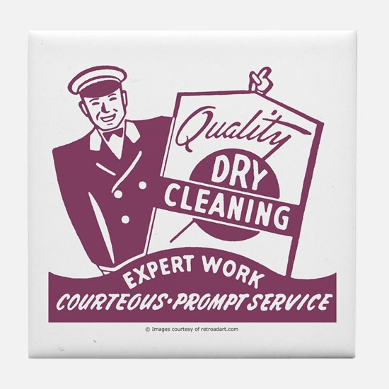 Dry Cleaning Tile Coaster