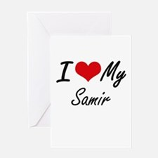 I Love My Samir Greeting Cards