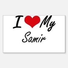 I Love My Samir Decal