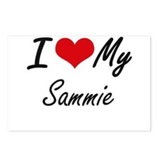I Love My Sammie Postcards (Package of 8)