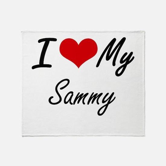 I Love My Sammy Throw Blanket