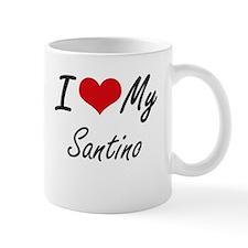 I Love My Santino Mugs