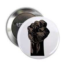 """The Black Fist 2.25"""" Button (10 pack)"""