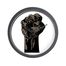 The Black Fist Wall Clock