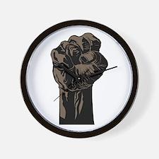 The Black Fist Wall Clock