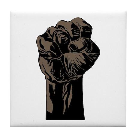 The Black Fist Tile Coaster