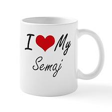 I Love My Semaj Mugs
