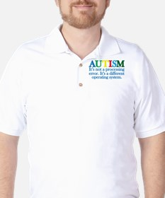Autism processing error Golf Shirt
