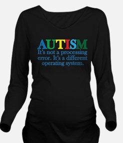 Autism processing er Long Sleeve Maternity T-Shirt