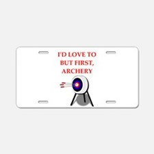 archery joke Aluminum License Plate