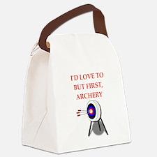 archery joke Canvas Lunch Bag