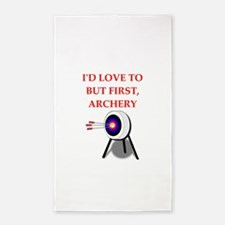 archery joke Area Rug