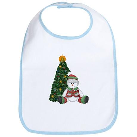 A Snowman for Christmas Bib